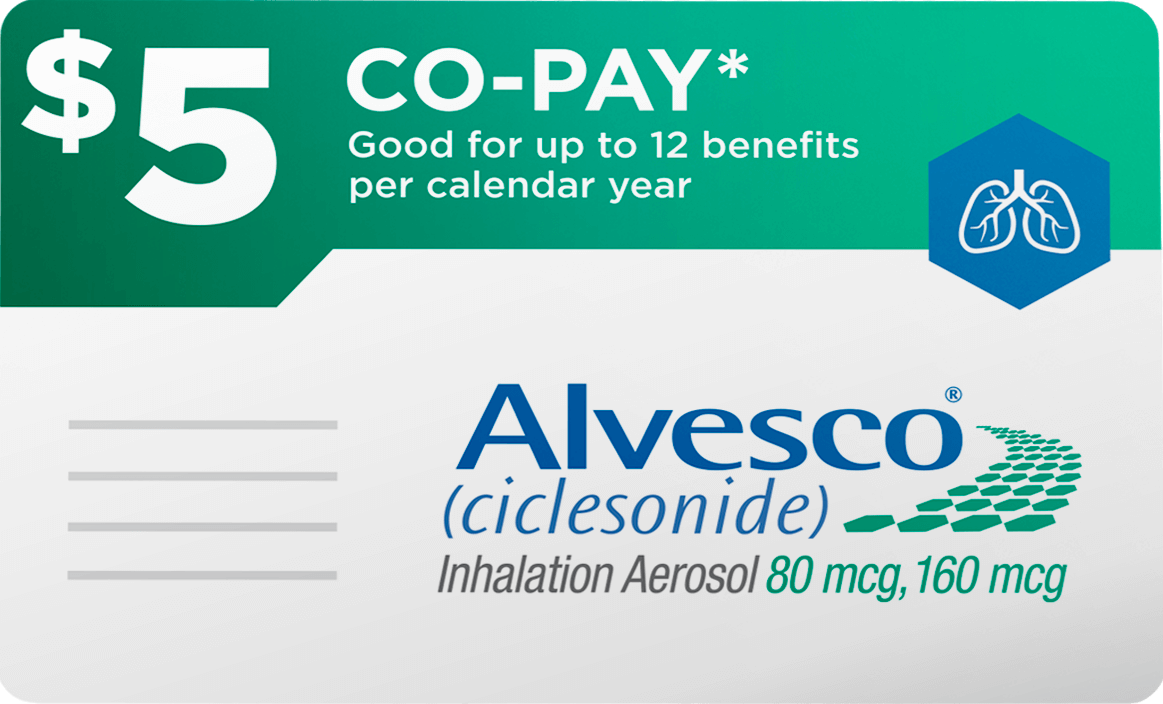 Alvesco $5 Co-pay card